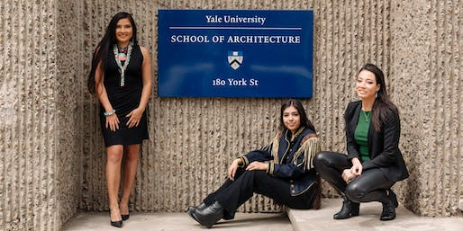 (L-R) Charelle Brown, Anjelica Gallegos, and Summer Sutton on the Yale campus. Image © Michael A. Hernandez