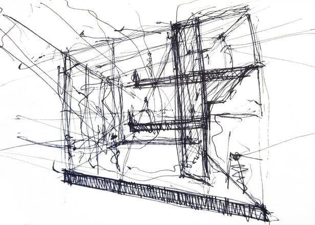 Vertical Farming Greenhouse Sketch