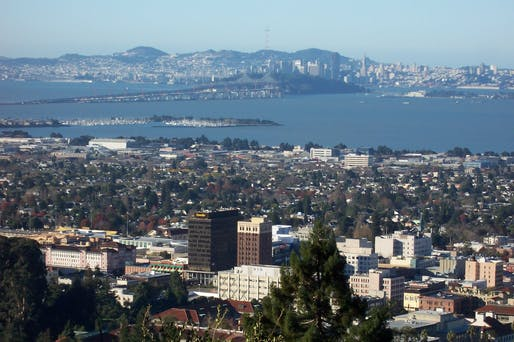 Aerial view of downtown Berkeley. Image courtesy of Wikimedia user Introvert.