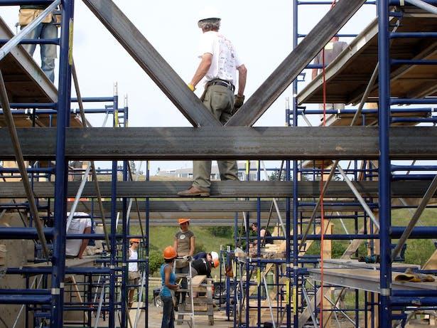 Gordon MacLean walks the new Steel Frame