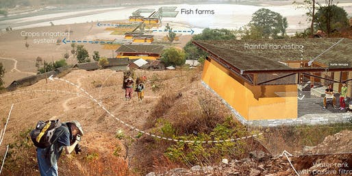University of Oregon announces call for Design for Spatial Justice Fellowship applicants. Rendering for part of the Vertical University in Nepal designed by KTK-BELT and Design in Spatial Justice Fellow Priyanka Bista. Image courtesy of KTK-BELT