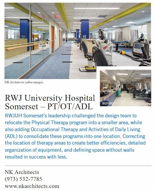 NK and RWJ University Hospital Somerset featured in Healthcare Design Magazine