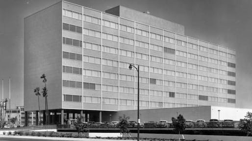 Parker Center Tower, 1954. Photographer unknown.