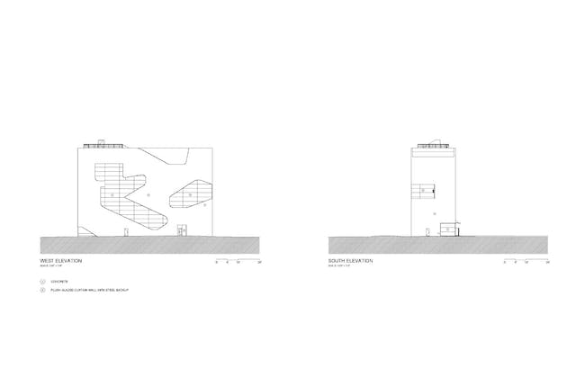 Elevations. Courtesy of Steven Holl Architects.