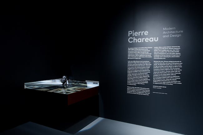 Installation view of the exhibition Pierre Chareau: Modern Architecture and Design, November 4, 2016 – March 26, 2017, at The Jewish Museum, NY. Photo: Will Ragozzino/SocialShutterbug.com. Exhibition design by Diller Scofidio + Renfro.