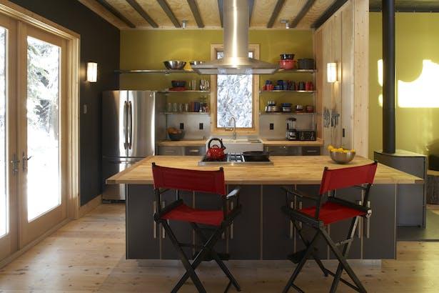 Kitchen, Lodgepole Pine House