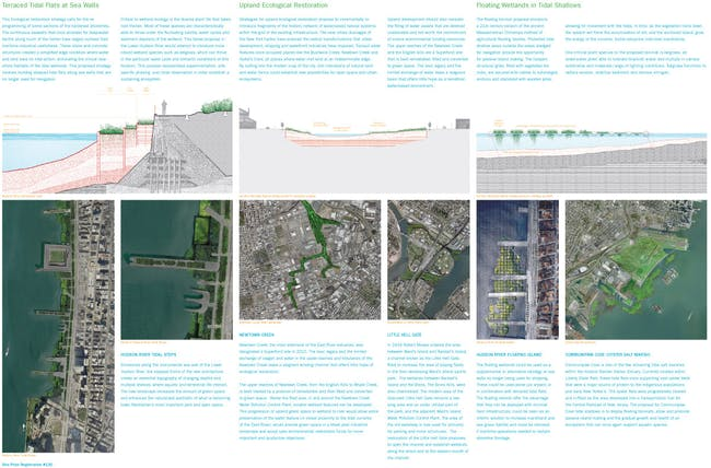 HONORABLE MENTION: ENHANCEMENT OF ESTUARY AND ECOLOGICAL SYSTEM by Cooper Union Institute for Sustainable Design, USA, led by Kevin Bone along with Arnold Wu, Paul Deppe, Joe Levine, Sunnie Joh, Raye Levine, Al Appleton, and Zulaikha Ayub