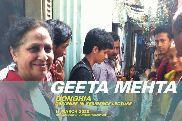 Geeta Mehta working with a neighborhood community in Koliwada Dharavi that came together to improve their sanitation, photo by Matias Echanove