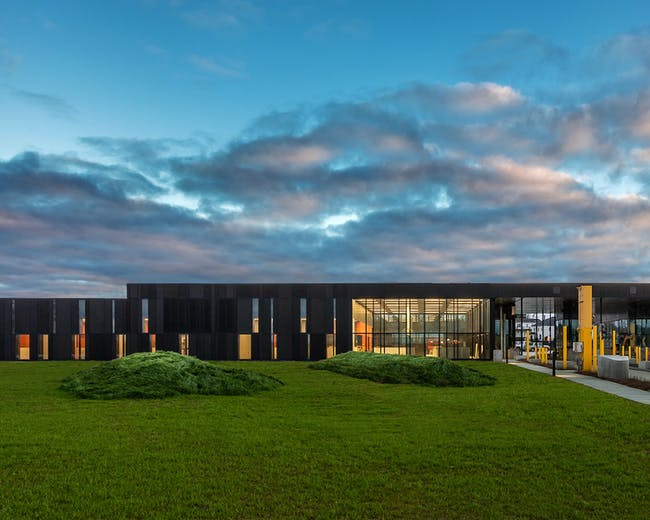 US Land Port of Entry; Van Buren, Maine by Snow Kreilich Architects, Inc. and Robert Siegel Architects. Photo: Paul Crosby.