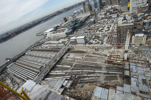 An aerial view of the Hudson Yards under development. Image via wikimedia.org
