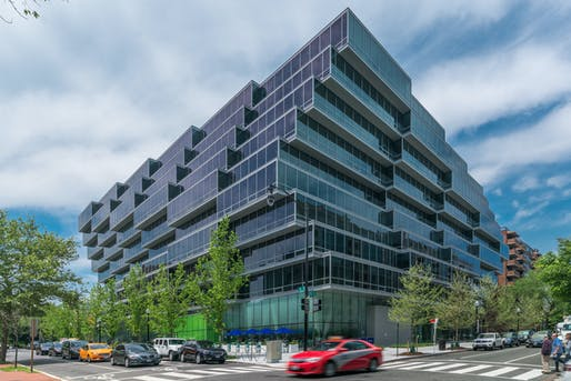 The exterior of The Apartments at Westlight, designed by Enrique Norten of TEN Arquitectos (photo credit: JBG SMITH).