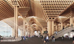 Winning airport design accused of plagiarizing Kengo Kuma's Wooden Bridge Museum