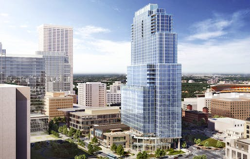 Rendering of the planned Gateway project in Minneapolis. Image: United Properties