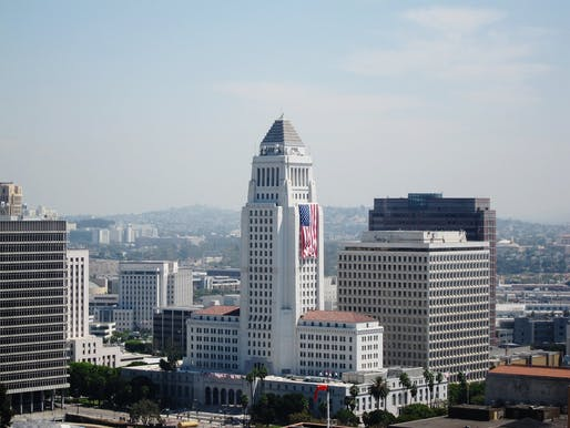 Los Angeles City Hall. Image courtesy of Flickr user Calvin Fleming.