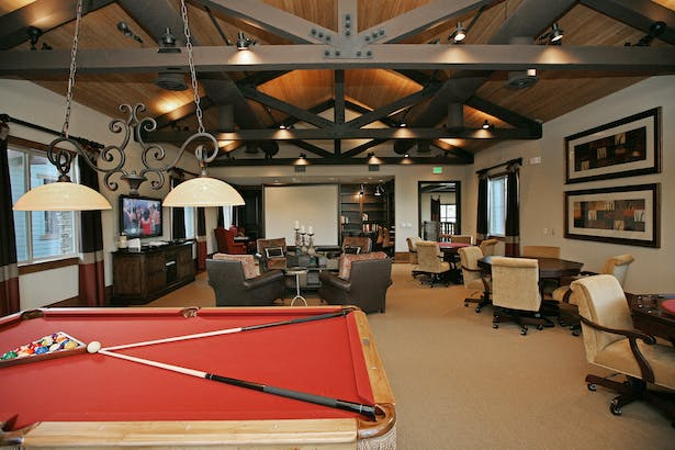 Interior resident game room.