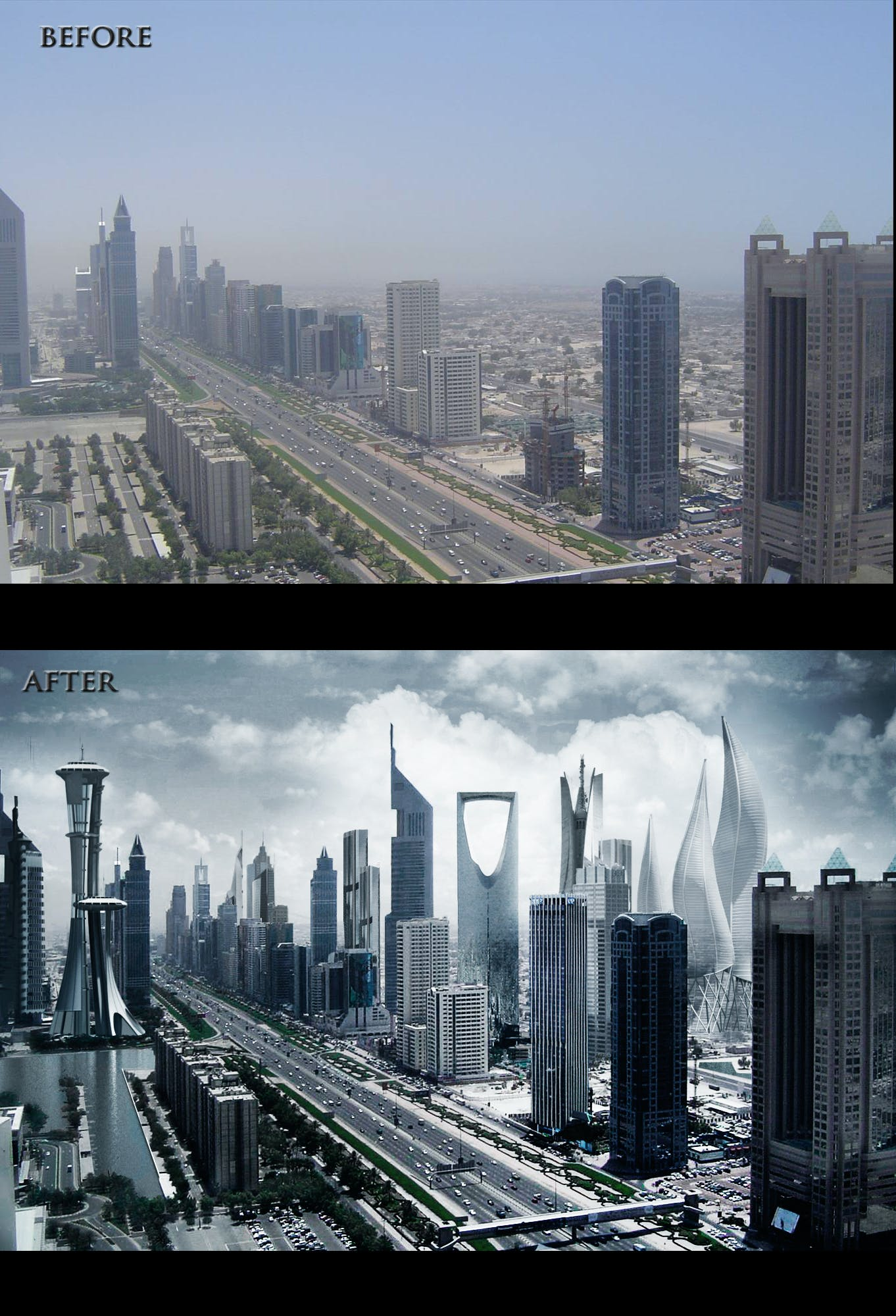Dubai before and after   souheil abdesselam   Archinect