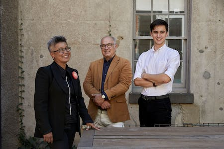 Left to Right: Fooi-Ling Khoo, founder of OOF; David Brand; and Jack Wilkinson. Photo by Tatjana Plitt.
