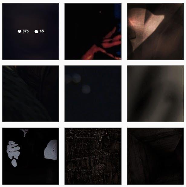 Grid of squares from Amanda Williams' Instagram account.
