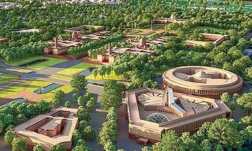 Rendering of the new Delhi parliament complex. Image: HCP Designs.