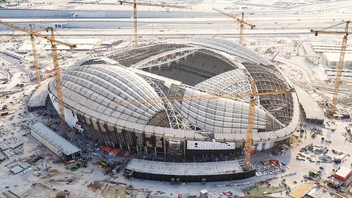 The ZHA-designed Al Wakrah FIFA World Cup Stadium in October 2018. Image courtesy of Supreme Committee for Delivery & Legacy.