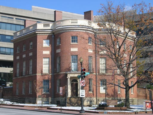 The Octogon House, the national headquarters of the American Institute of Architects. Image courtesy of Wikimedia user Aude.