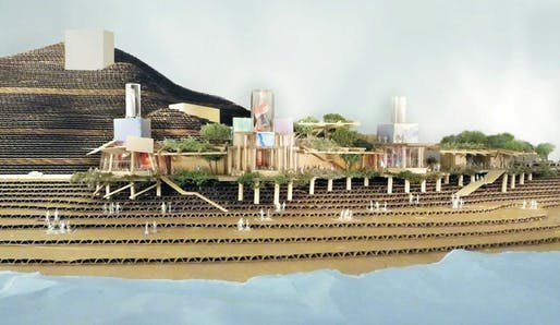 Frank Gehry and Wolfgang Puck's proposed design for the redevelopment of the Gladstones site. Credit: Frank Gehry.