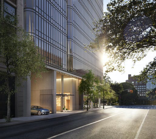 The 565 Broome Street project features automated parking as an amenity for building residents. Image courtesy of Renzo Piano Building Workshop.