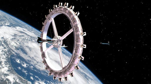 Rendering of Orbital Assembly's planned Voyager Space Station (VSS). Image courtesy of Orbital Assembly.