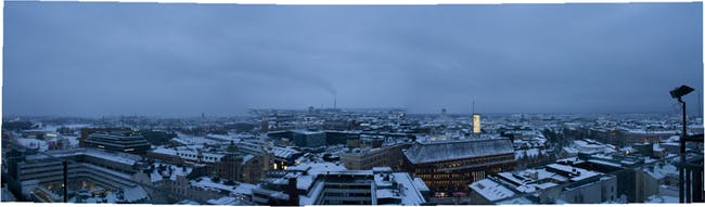 Helsinki to the South and the 8 story datum