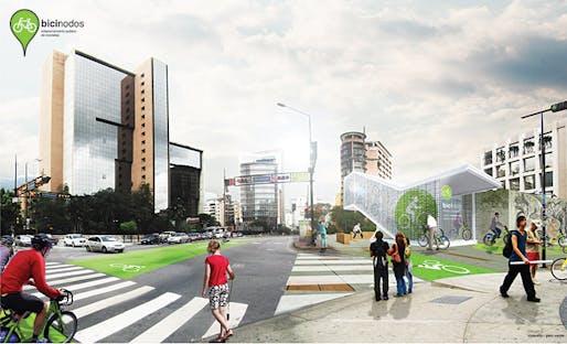 Rendering, parking (Image: Andrea Hernández & Cruz Criollo)