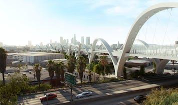 Los Angeles's fancy new bridge falls further behind schedule