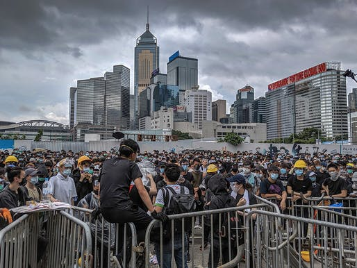 A June 2019 photo of the Hong Kong anti-extradition bill protest. Photo: Studio Incendo/Flickr.
