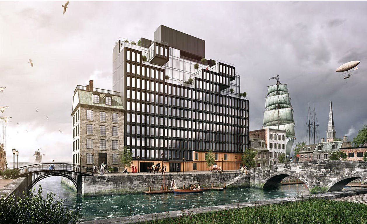 this new steampunk luxury apartment building for new york should