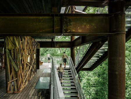 MITHUN's 125-foot-tall Sustainability Treehouse in West Virginia. Photo by Joe Fletcher.