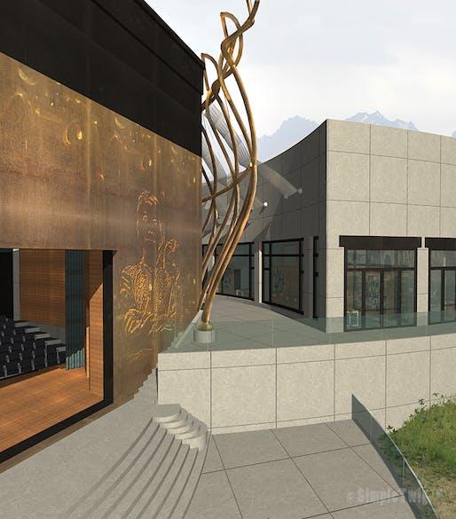 Bamiyan Cultural Centre - Atrium view