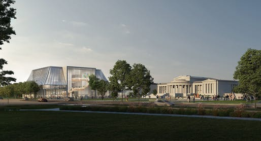 Albright-Knox Art Gallery Expansion, plaza view. Image courtesy OMA.