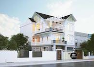 Mẫu thiết kế biệt thự mái thái 3 tầng đẹp và hiện đại