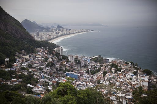 Views of Ipanema Beach and the South Zone in Rio are seen from Vidigal. An eco-friendly hotel is under construction in the favela. The hotel, which will hire local workers, is part of a massive gentrification process underway in a neighborhood once wrought with violence and drug traffickers...