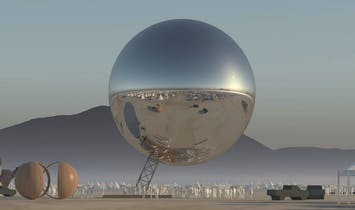 Bjarke Ingels is crowdsourcing funds to bring a giant mirrored orb to Burning Man
