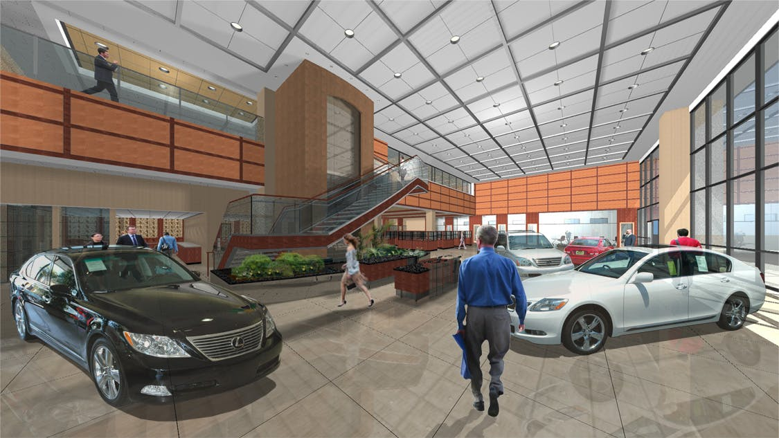 Keyes Lexus Interior Design | GO design | Archinect