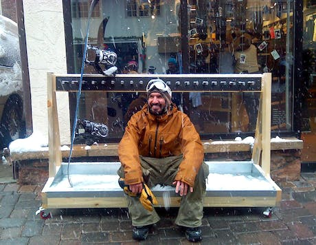 Vail Village Ski Rack Design
