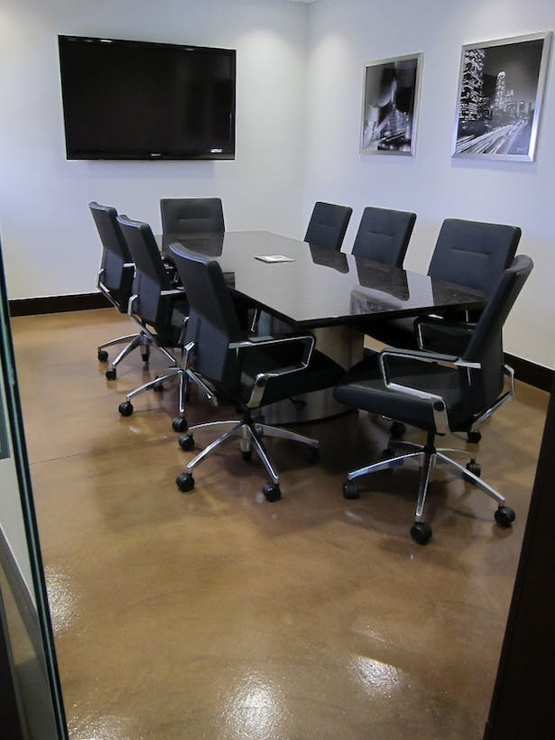 Custom Steel and Stone conference table