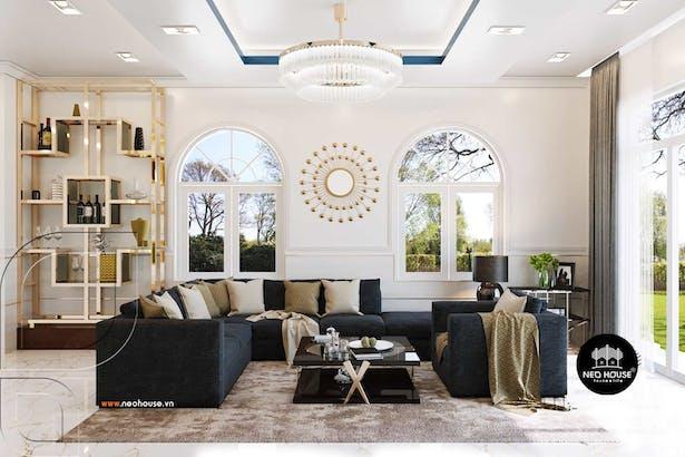 Mẫu thiết kế nội thất biệt thự đẹp mê ly tại Long An thumbnail