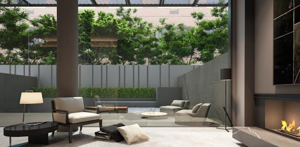 Rendering of Landscaped rear yard