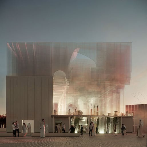 Proposal for the Italian Pavilion for Expo 2020 Dubai by Dodi Moss.