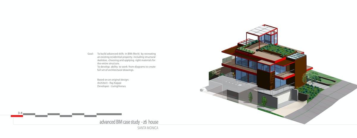 Advanced BIM Case Study - Z6 HOUSE, Architect - Ray Kappe