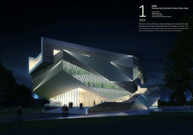 Flint--Exhibition Center of Industrial Park by Xingzhe Yang