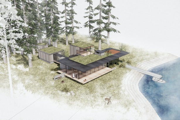 Whispering Firs - Aerial (Rendering by Wittman Estes)
