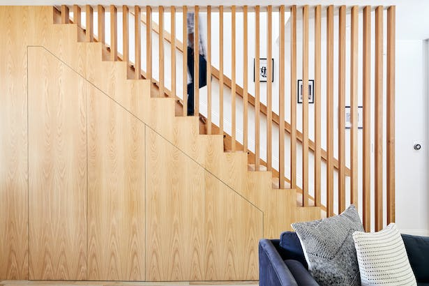 Staircase with Integrated Storage
