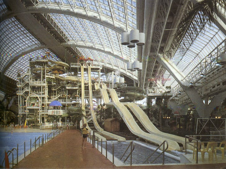 West Edmonton Mall, by the Ghermezian Brothers (developers) and Maurice Sunderland (architect). 1981.